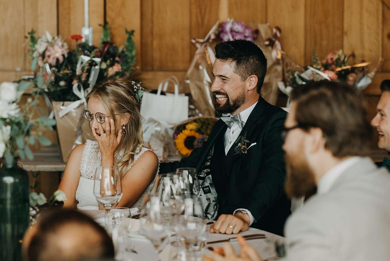 Bruidspaar feestzaal de Schuur Alken huwelijk