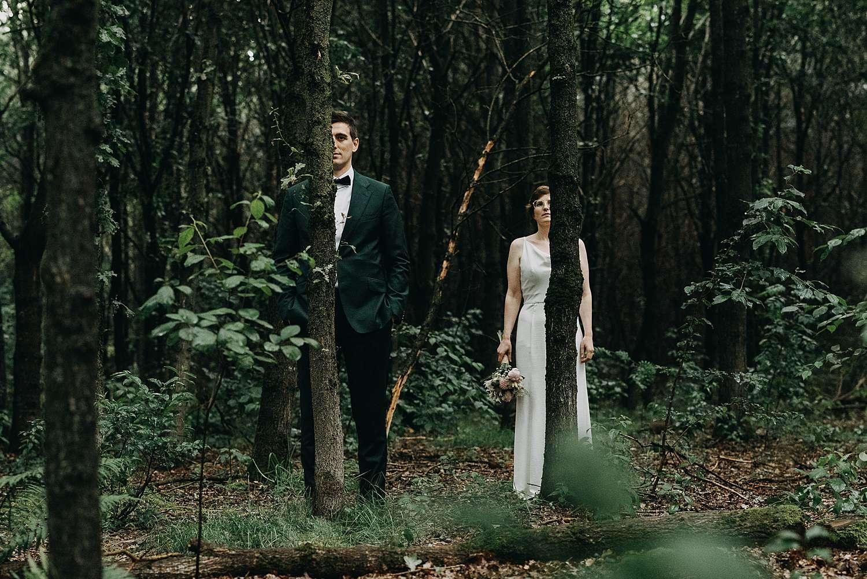 Bruidspaar in bos Grimbergen