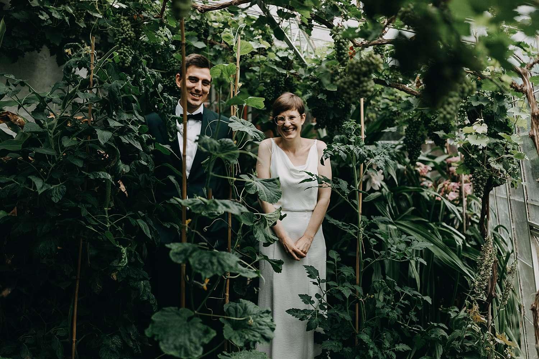 Bruidspaar in serre Oyenbrugmolen