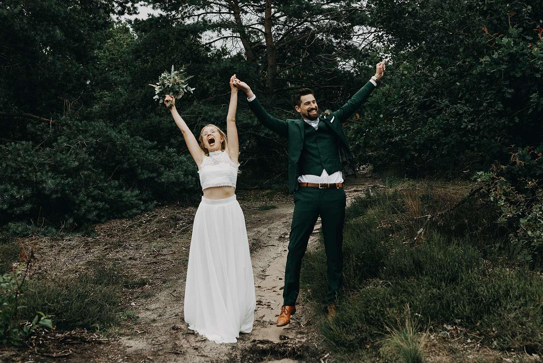 Bruidspaar juicht De Teut Zonhoven