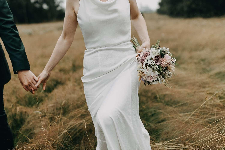 Detail bruidsboeket huwelijk Grimbergen