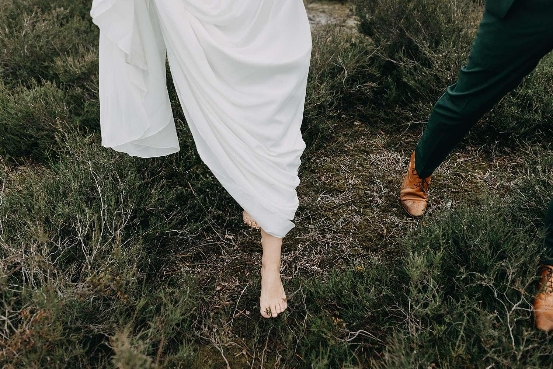 Detail voeten bruidspaar De Teut Zonhoven