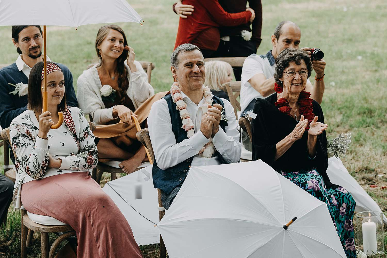 Familie huwelijk buitenceremonie Kasteel van Heks
