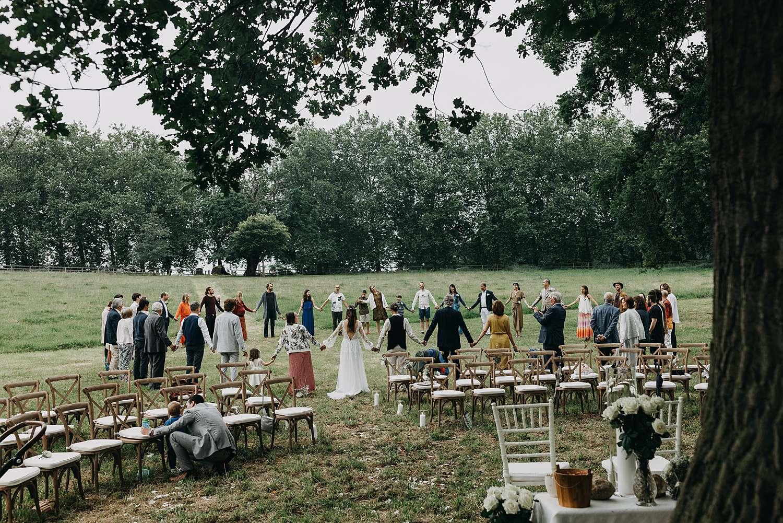Gebed huwelijk buitenceremonie Kasteel van Heks