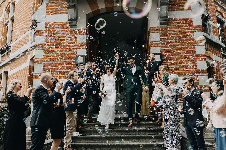 Uittrede huwelijk gemeentehuis huwelijk in Grimbergen