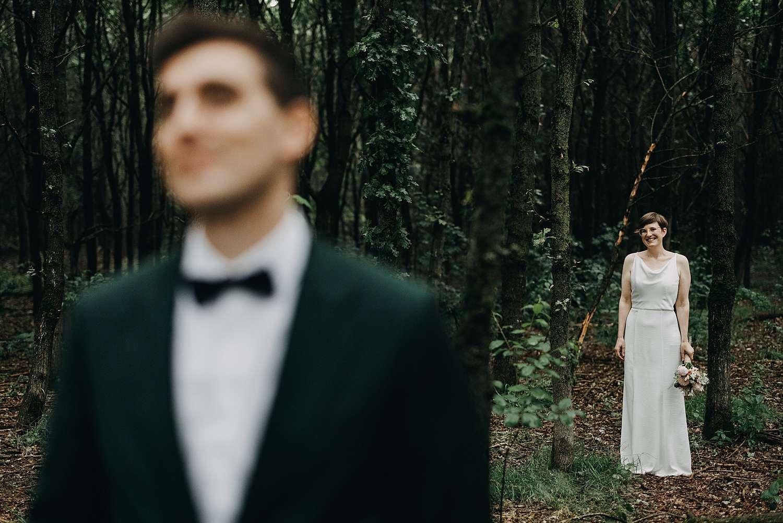 Huwelijksreportage in bos Grimbergen