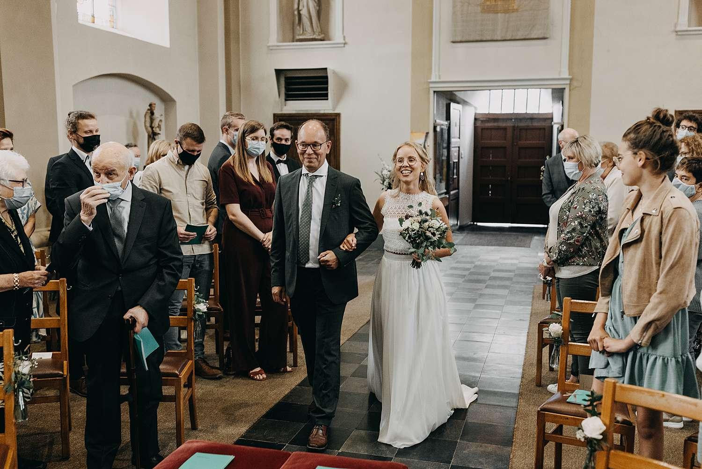 Intrede huwelijk Sint-Pancratiuskerk Halen