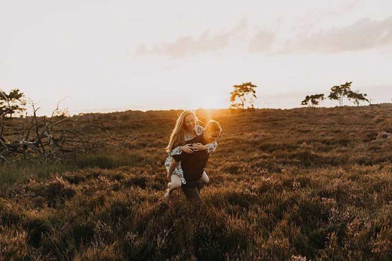 Kalmthoutse heide sunset fotoreportage