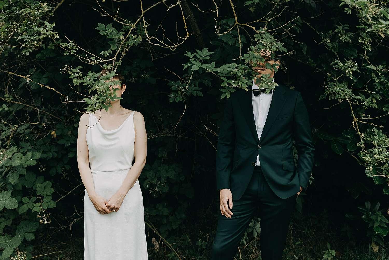 Portret bruidspaar huwelijk in Grimbergen