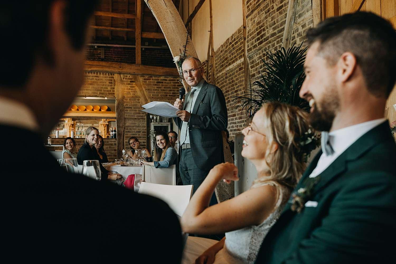 Speech huwelijk De Schuur
