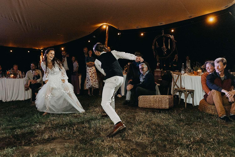 dansfeest Bohemian hippie huwelijk kasteel van Heks